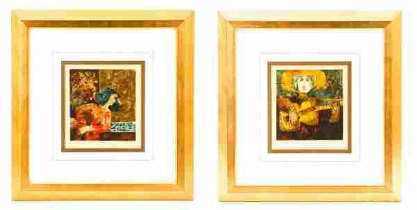 Two Alvar Sunol Munoz-Ramos Lithographs
