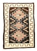 Navajo Hand Woven Wool Pictorial Textile Rug