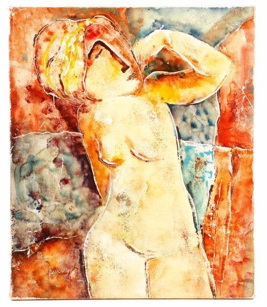 "Calvin Waller Burnett, ""Euphoria"", Oil on Canvas"