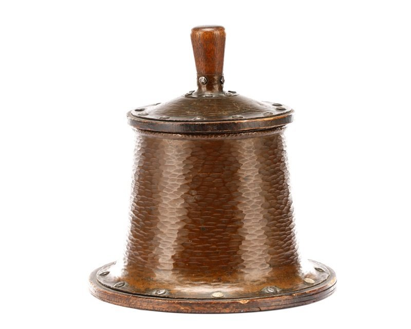 Joseph Heinrichs Arts & Crafts Copper Humidor