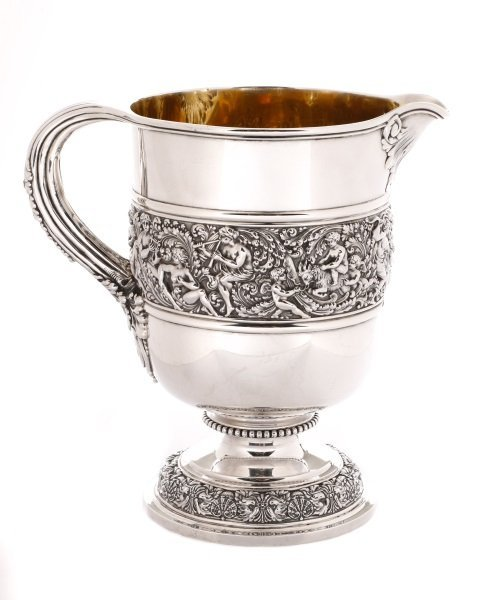 "Scarce Tiffany ""Olympian"" Sterling Pitcher c.1880s"