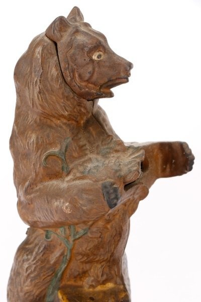 Native American & Bear Mechanical Coin Bank - 3