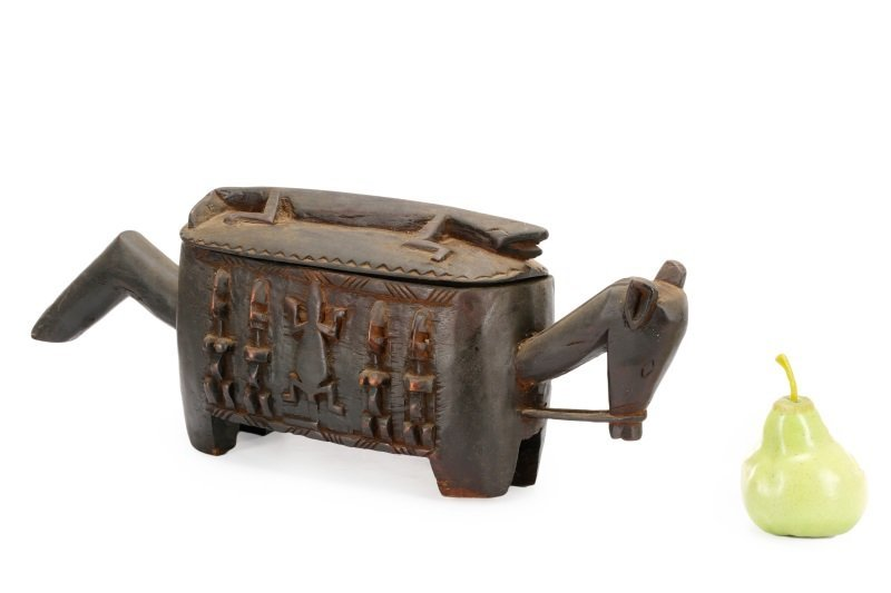 Dogon Carved Horse Form Large Wooden Box - 10