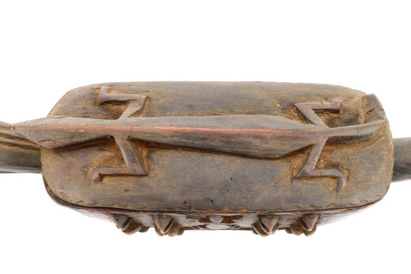 Dogon Carved Horse Form Large Wooden Box - 3