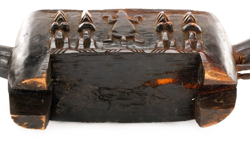 Dogon Carved Horse Form Large Wooden Box - 9