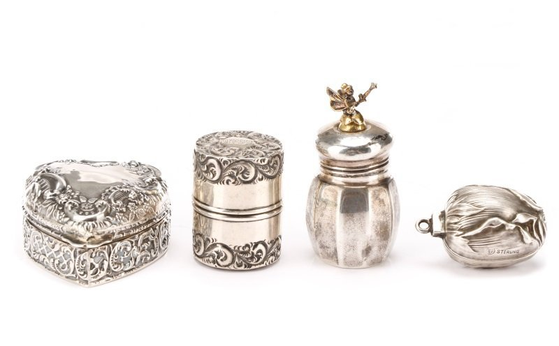 Group of 5 Sterling Silver Novelty Pieces