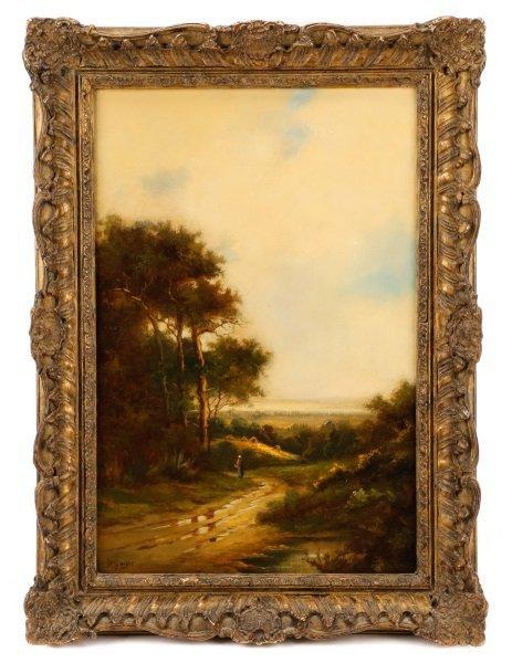 "Jack M. Ducker, ""River Valley Landscape"", Oil"