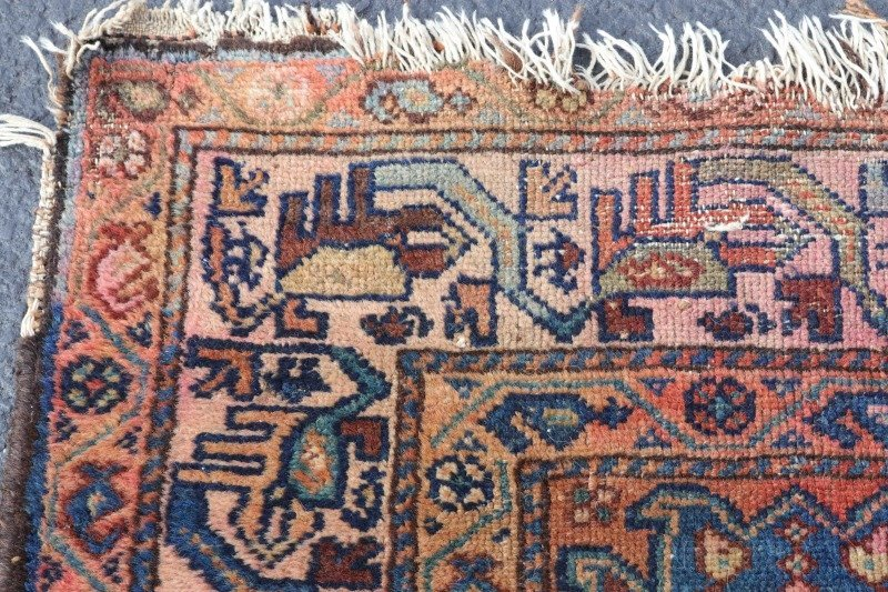 Hand Woven Persian Tribal Throw Rug - 2