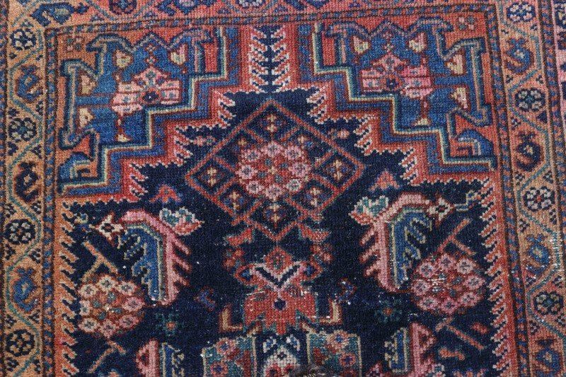 Hand Woven Persian Tribal Throw Rug - 3