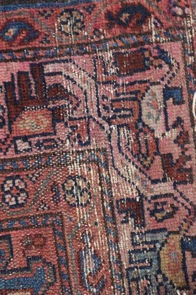 Hand Woven Persian Tribal Throw Rug - 4