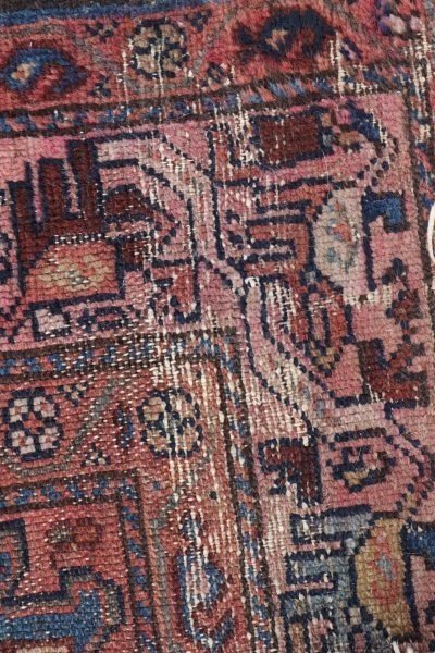 Hand Woven Persian Tribal Throw Rug - 4