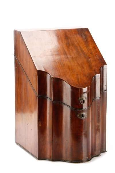 Grand Georgian Mahogany Knife Box