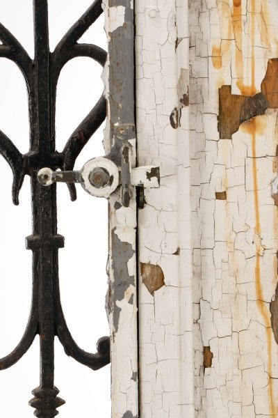 French Painted Wood and Wrought Iron Door, 19 C. - 10