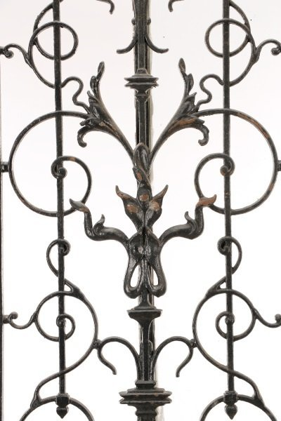French Painted Wood and Wrought Iron Door, 19 C. - 2