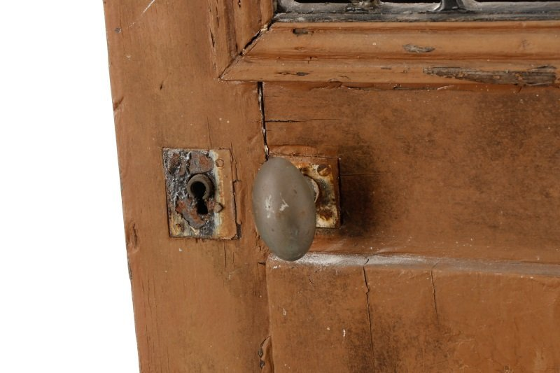 French Painted Wood and Wrought Iron Door, 19 C. - 3