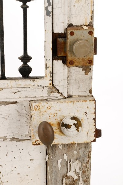 French Painted Wood and Wrought Iron Door, 19 C. - 8
