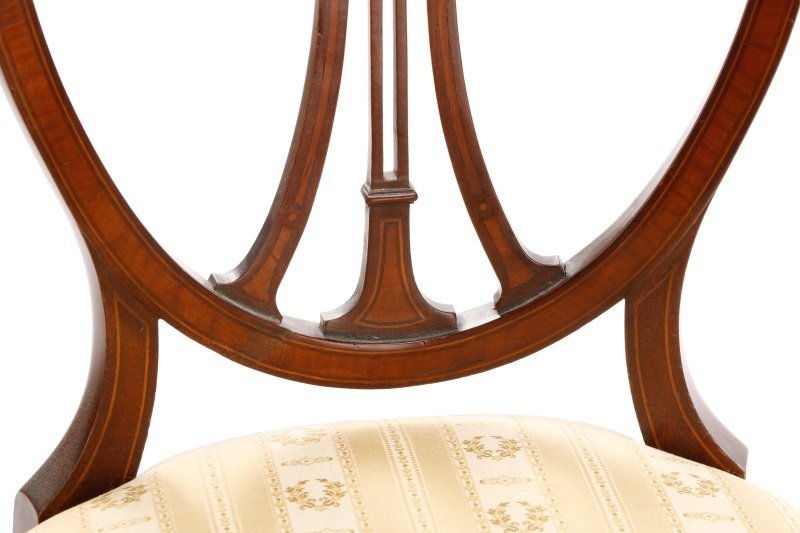 Pair, Period Signed Hepplewhite Style Side Chairs - 3