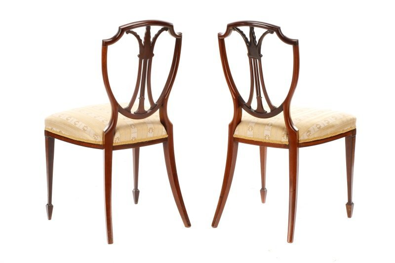 Pair, Period Signed Hepplewhite Style Side Chairs - 7