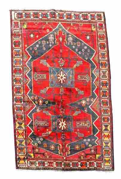 "Hand Woven Persian Hamadan Rug 6' 4"" x 9' 9"""