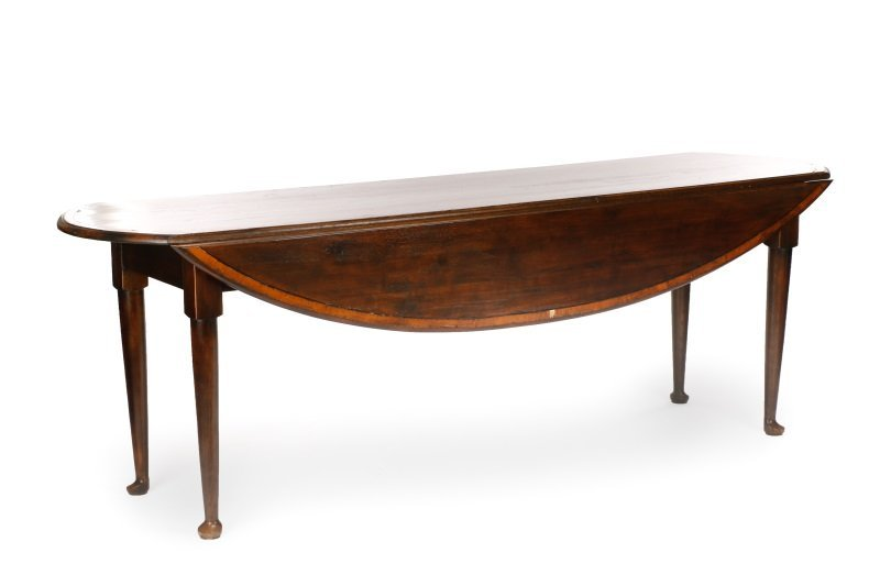 Queen Anne Style Mahogany Drop Leaf Table