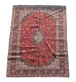 Hand Woven Persian Kashan Area Rug 8 1 x 12 4