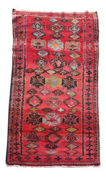"Hand Woven Persian Hamadan Rug 3' 10"" x 7' 5"""