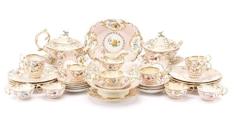 Fine Paris Porcelain Hand Painted Dessert Service