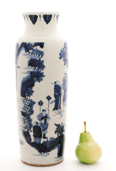Chinese Porcelain Sleeve Vase with Figural Scene - 10