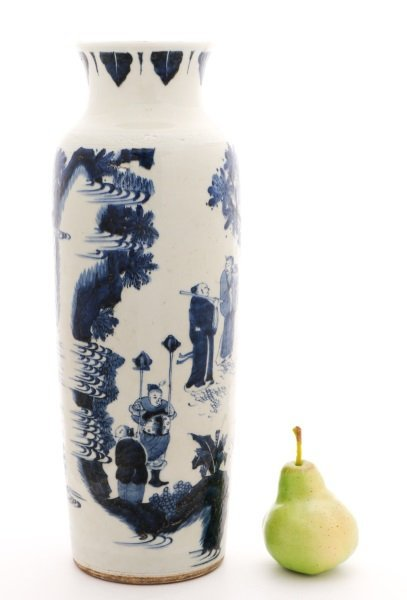 Chinese Porcelain Sleeve Vase with Figural Scene - 10