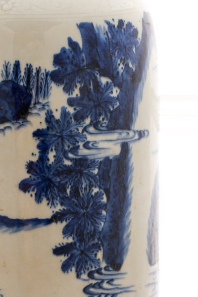 Chinese Porcelain Sleeve Vase with Figural Scene - 6