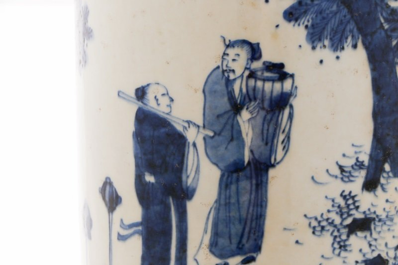 Chinese Porcelain Sleeve Vase with Figural Scene - 7