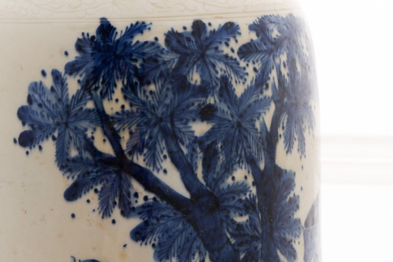 Chinese Porcelain Sleeve Vase with Figural Scene - 8