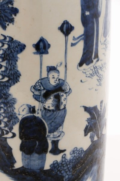Chinese Porcelain Sleeve Vase with Figural Scene - 9