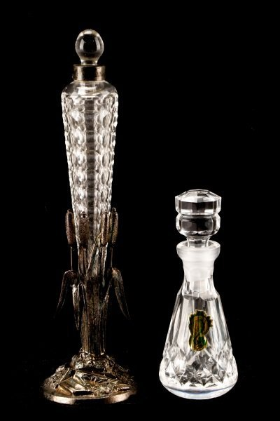 Cut Glass Perfume Vial & Waterford Perfume Bottle