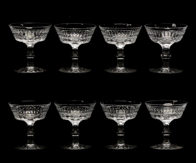 "Set of 8 Waterford ""Tramore"" Champagne Coupes"