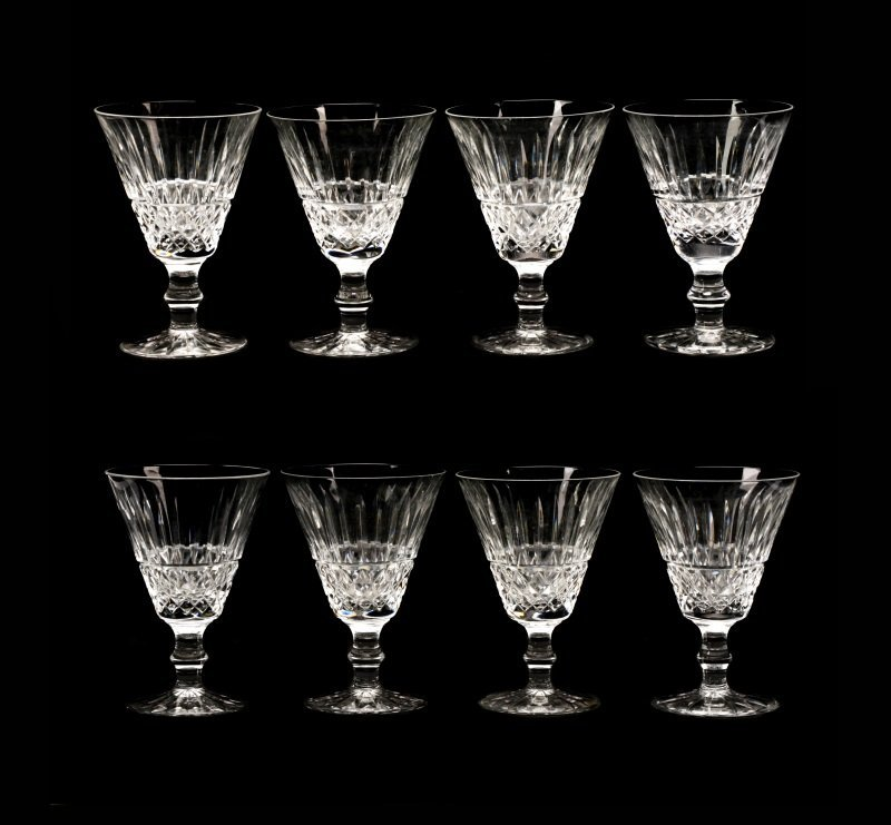 "Set of 8 Waterford Crystal ""Tramore"" Water Goblets"