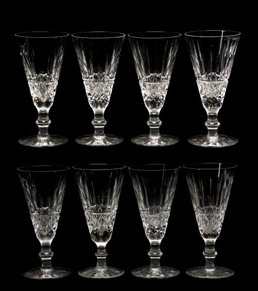"Set of 8 Waterford ""Tramore"" Fluted Champagnes"