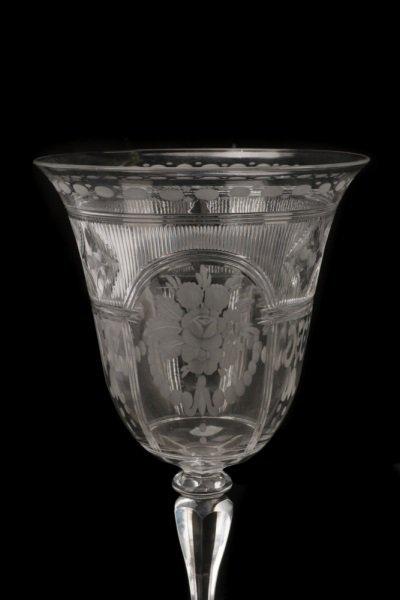Set H. P. Sinclaire & Company Etched Glass Goblets - 2