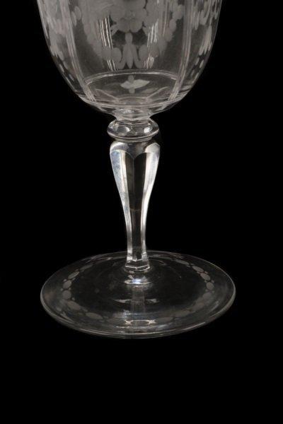 Set H. P. Sinclaire & Company Etched Glass Goblets - 3