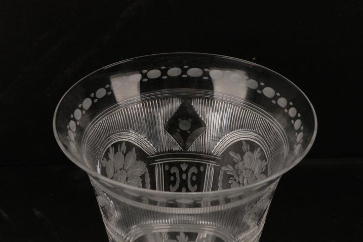 Set H. P. Sinclaire & Company Etched Glass Goblets - 4