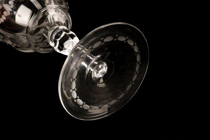 Set H. P. Sinclaire & Company Etched Glass Goblets - 5