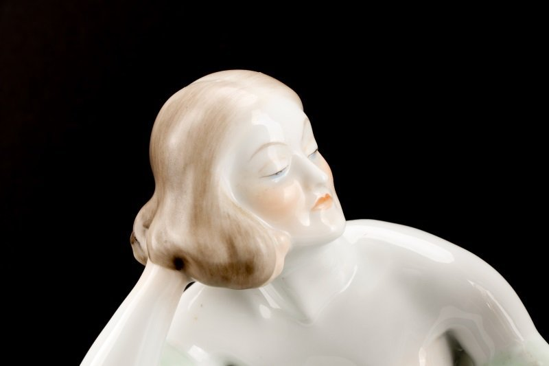 Group of Two Herend Porcelain Figurines, Marked - 4