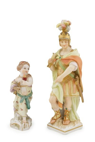 Two KPM German Porcelain Figurines, 19th C