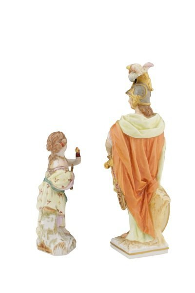Two KPM German Porcelain Figurines, 19th C - 2