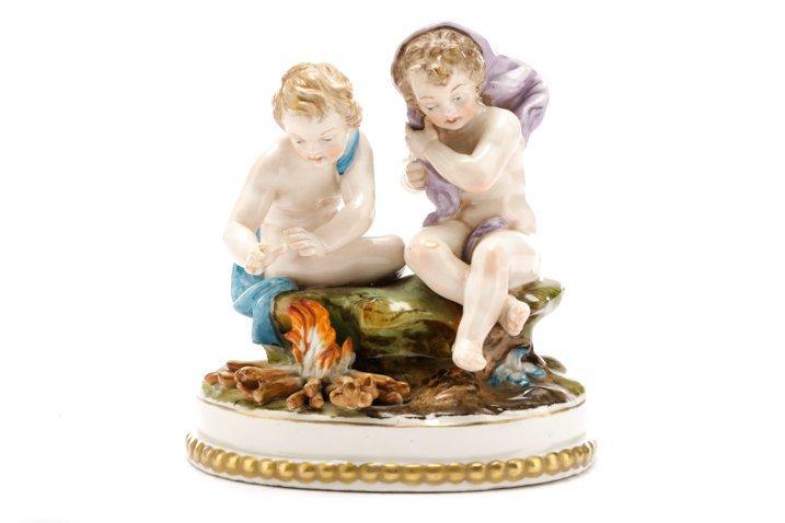 "Porcelain Figural Group ""Winter"", Pre Lladro"