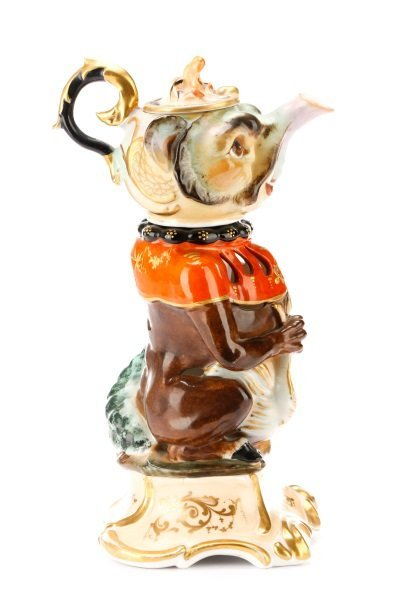 Unusual Four-Piece Figural Teapot on Stand - 6