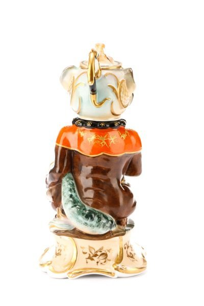 Unusual Four-Piece Figural Teapot on Stand - 7