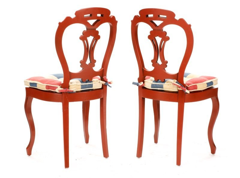 Pair, Lacquered Rococo Revival Style Side Chairs - 6
