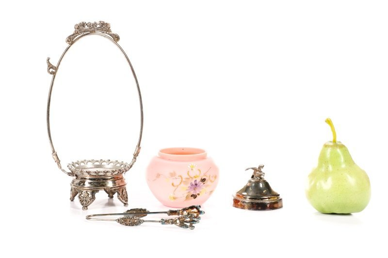 Victorian Silver & Pink Satin Glass Pickle Castor - 5
