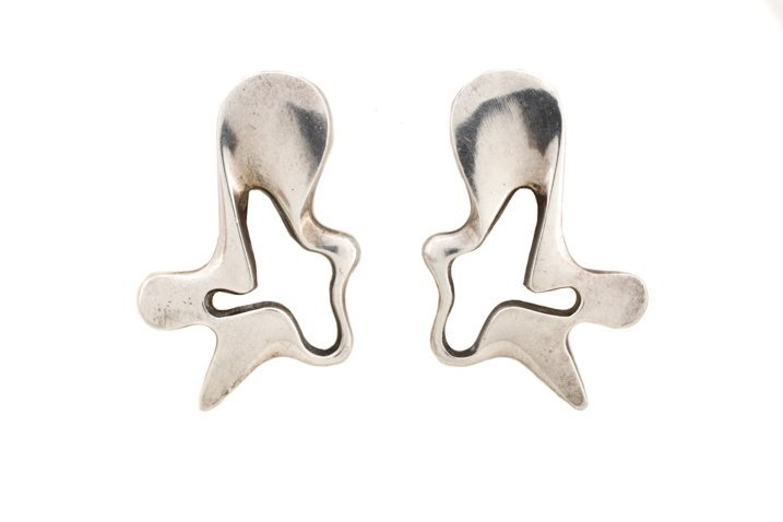 Pair, Henning Coppel for Jensen Splash Earrings
